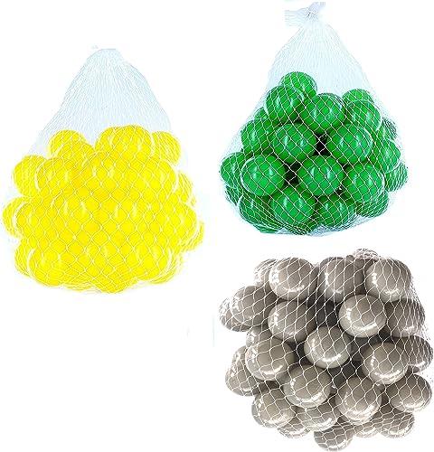 ahorra 50% -75% de descuento Pelotas para para para pelotas baño variadas Mix con gris, verde y amarillo Talla 6000 Stück  A la venta con descuento del 70%.