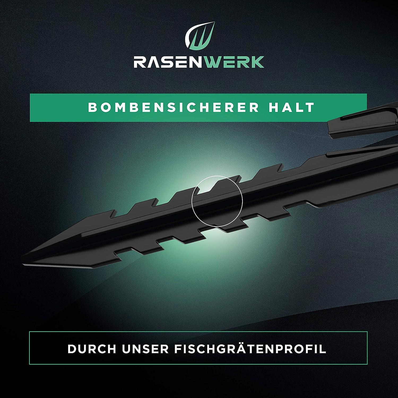 Worx 100 unidades Husqvarna Bosch Compatible con Gardena Estacas para cable perimetral de robot cortac/ésped RASENWERK/® Piquetas con forma patentada AL-KO