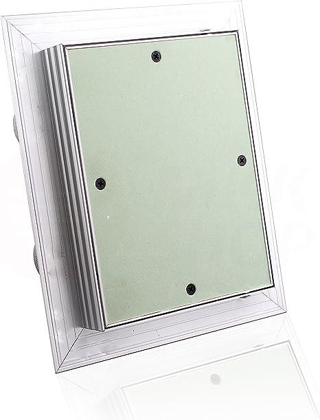 Revisionsklappe GK-Einlage 600 x 800 mm Gipskarton 25 mm doppelt beplankt Revisionst/ür Revision Wartungst/ür 60 x 80 cm Wartung Reinigungsklappe Wartungs/öffnung mit Aluminium-Rahmen Feuchtraumgeeignet gr/ün Trockenbau