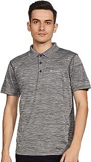 قميص بولو زيرو رولز للرجال من كولومبيا، رمادي مرقط، مقاس M