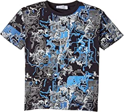 Versace Kids - Short Sleeve Barocco Circuit Graphic T-Shirt (Toddler/Little Kids)
