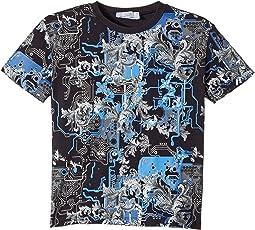 Versace Kids - Short Sleeve Barocco Circuit Graphic T-Shirt (Toddler/Little Kids)