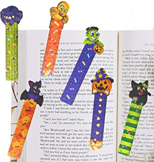 144 PCs Halloween Bookmark Rulers Party Favor Pack (6 Designs) with Halloween Themed Prints for Holiday Decorations, Goodi...