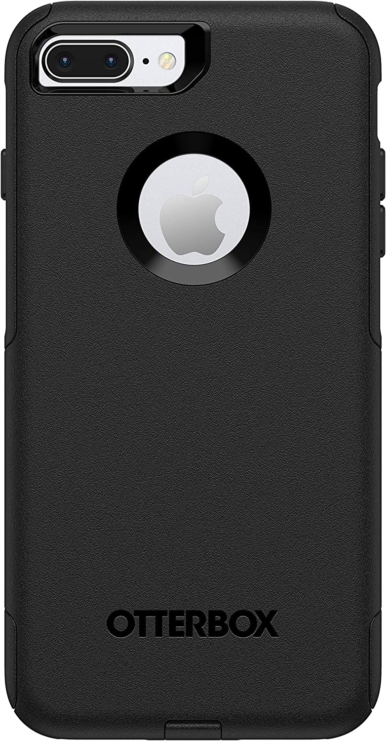 OtterBox Commuter Smooth Case for iPhone 8 Plus & iPhone 7 Plus (ONLY) - Non-Retail Packaging - Black