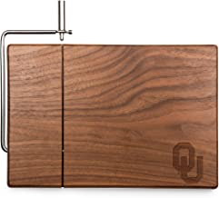 NCAA Oklahoma Sooners Meridian Black Walnut Cutting Board with Cheese Slicer