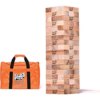 Jenga Giant JS7 (Stacks to Over 5 feet) Precision-Crafted Premium Hardwood Game with Heavy-Duty Carry Bag (Authentic JENGA Brand Game)