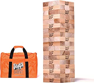 Jenga Giant JS7 (Stacks to Over 5 feet) Precision-Crafted Premium Hardwood Game with Heavy-Duty Carry Bag (Authentic JENGA Brand Game), Natural (01520-28)