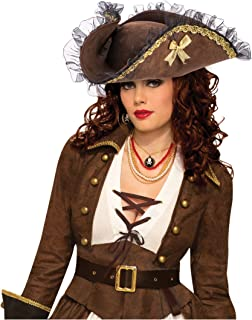 Tricorner Female Pirate Hat (Brown)