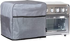 Crutello Convection Toaster Oven Cover with Storage Pockets Compatible with Cusinart TOA-60 Toaster Ovens - Measuring 17