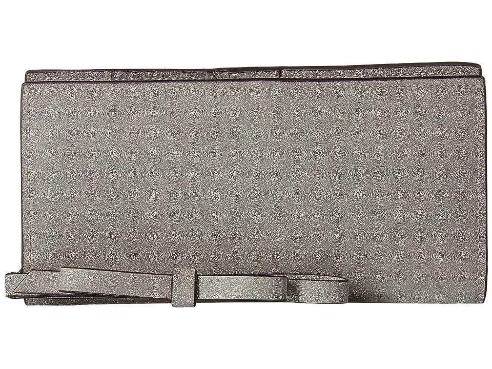 ZAC Zac Posen Earthette Slim Wristlet Wallet (Silver) Wristlet Handbags