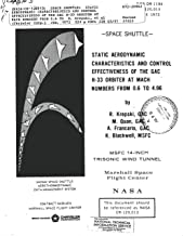 Space shuttle: Static aerodynamic characteristics and control effectiveness of the GAC H-33 orbiter at Mach numbers from 0.6 to 4.96