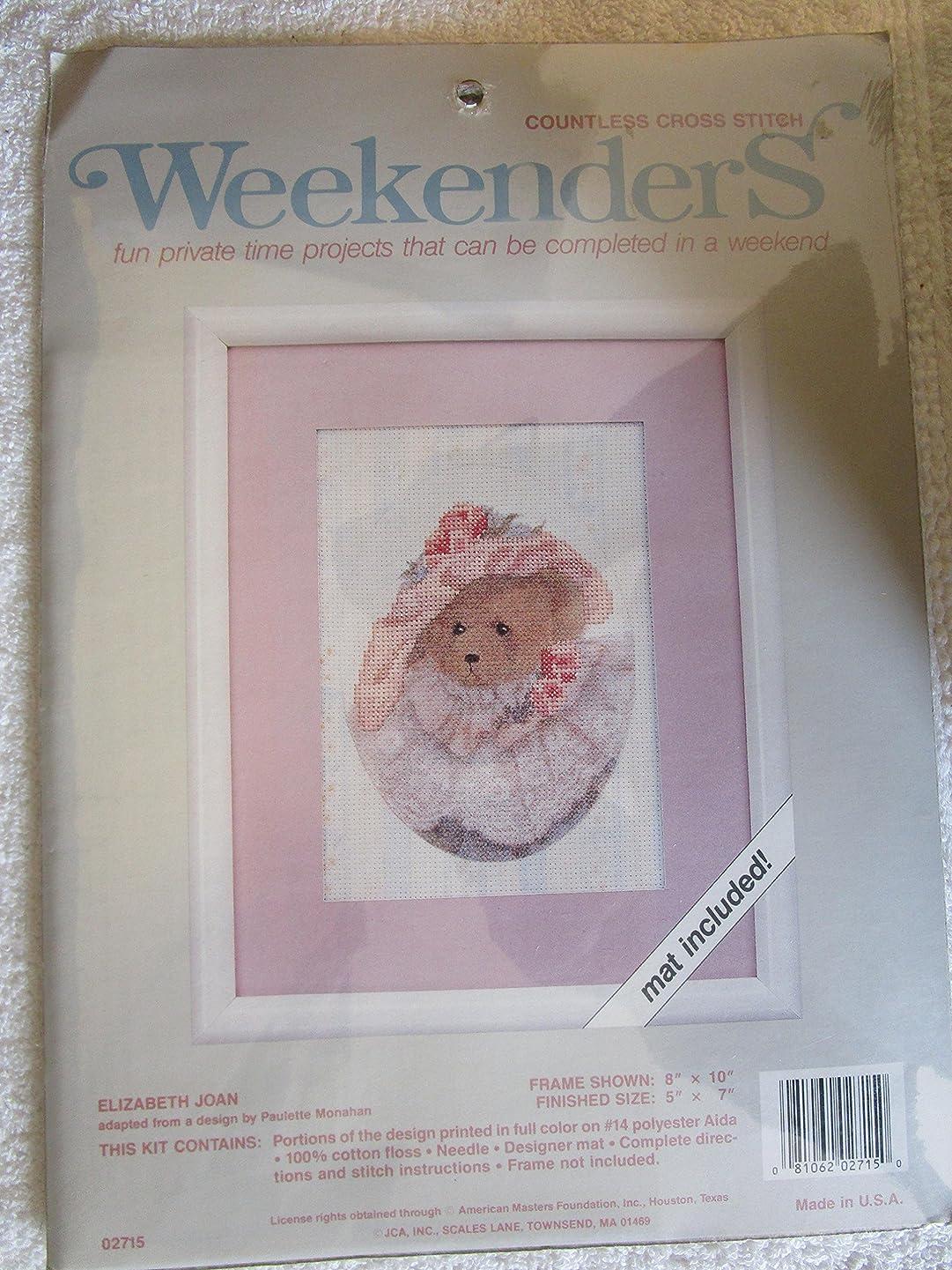 Weekenders Elizabeth Joan Countless Cross Stitch Kit,pink
