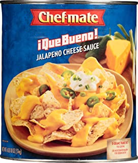 Chef-mate Que Bueno Spicy Nacho Cheese Sauce,  Queso, Jalapeno Cheese Sauce, 6 lb 10 oz, #10 Can