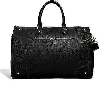 Hook & Albert Black Leather Women's Garment Weekender bag Carry On