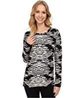 Calvin Klein - Long Sleeve Animal Print Sweater