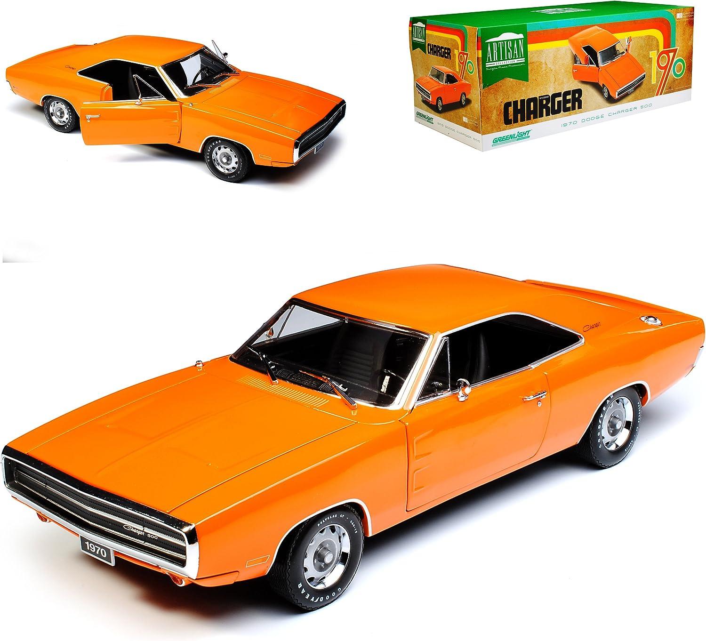 Grünlight Dodge Charger R T Orange 1970 1 18 Modell Auto B076B47TZ2 Hohe Qualität und Wirtschaftlichkeit  | Vielfalt