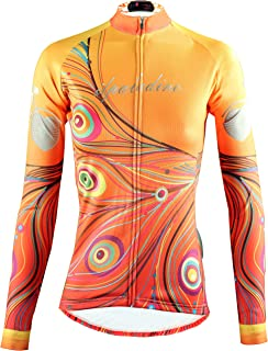 6e035bd37 QinYing Womens Cycling Jerseys Long Sleeve Zipper Mountain Bike Jersey  Breathable Girls Biking Shirts Ladies Bicycle