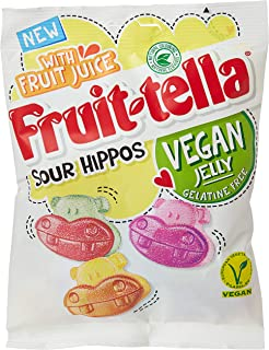 Fruittella Sour Hippos - Vegan apple, strawberry and lemon flavour jellies - Made with real fruit juice - Gelatine free - ...