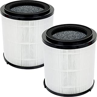 Flintar All-in-1 H13 Premium True HEPA Replacement Filter Compatible with SilverOnyx 5-Speed Air Purifier, Captures 99.97% of Airborne allergens Down to 0.3 microns and Neutralizes Odors, 2-Pack (2)