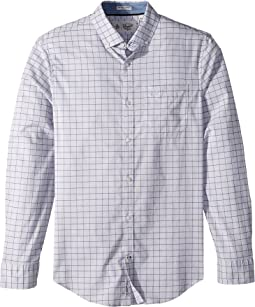 Original Penguin - Long Sleeve Heathered Lightweight P55 W Stretch Shirt