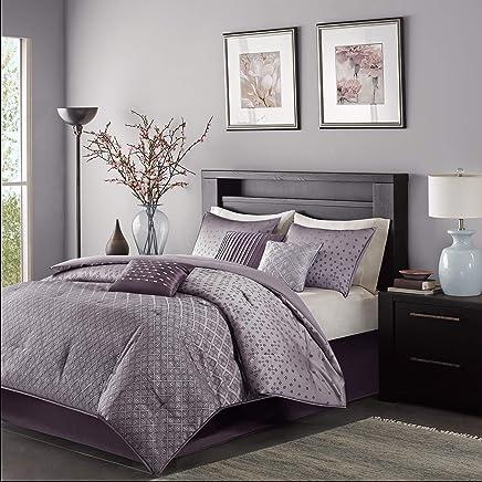 Madison Park MP10-920 Comforter Set, Purple