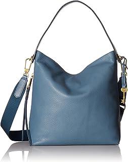 Fossil Maya Leather 12 cms Light Blue Gym Shoulder Bag (ZB7285491)