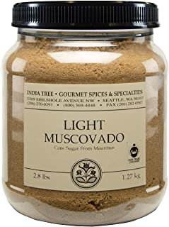 India Tree Light Muscovado Sugar, 2.8 lb (Pack of 2)