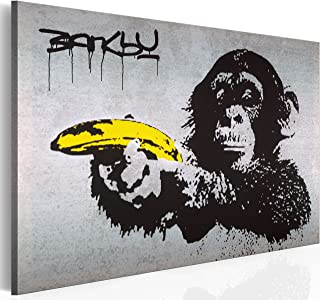 """artgeist Canvas Wall Art Print Banksy 35.4""""x23.6"""" Home Decor Framed Stretched Picture Photo Painting Artwork Image 030115-40"""