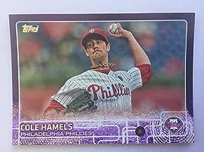 2015 Topps Toys r Us Purple Bordered 10 Cole Hamels NM/M (Near Mint/Mint)