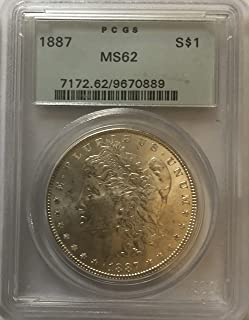 1887 P Silver Morgan Beautiful Wild West ERA Dollar MS-62 PCGS