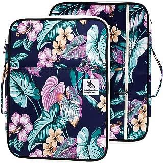 Lazyaunti Zipper Portfolio Organizer A4 Note Pouch-Waterproof Document Bags/Zipper Binder/Paper Case for 13.3