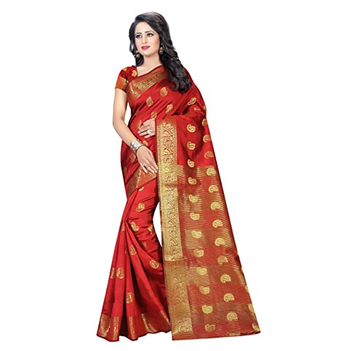 3ad2bf381f Red Banarasi Silk Sarees: Buy Red Banarasi Silk Sarees Online at ...