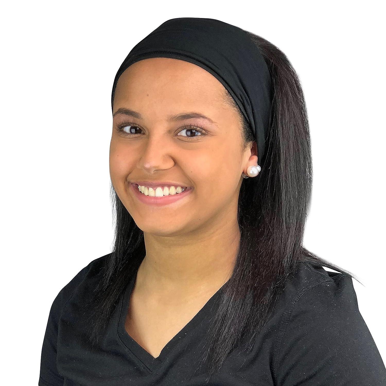 Satin Life Satin Lined Headband, Protective Style (Black)