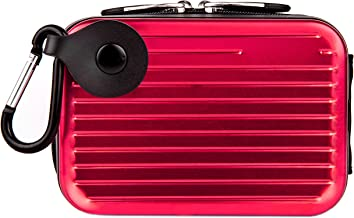 VanGoddy Pascal Metal Carrying Hard Case for Sony Cyber Shot DSC Model H55 H70 H90 HX10V HX20V HX30V HX5 HX50V HX7V HX9V Point and Shoot Digital Cameras (Pink)