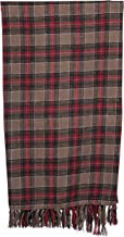 """Creative Co-op 60"""" Brushed Cotton Plaid Pattern & Fringe Throw, Red"""