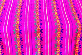 Mexican Fabric, Aztec fabric, Tribal fabric by the yard, Pink Fabric with tribal details, Engagement party, Wedding decor, FAB318