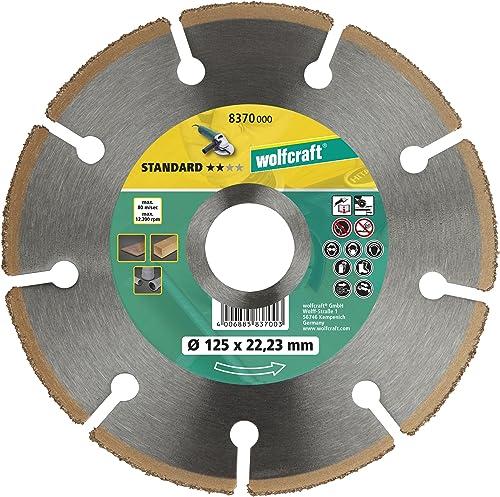 Wolfcraft 8370000 disco de tronzar CT para amoladora angular PACK 1, 0 W, 0 V, 125 x 22.23 mm