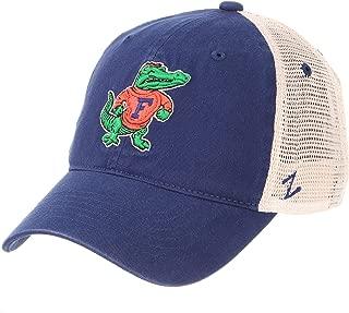 Zephyr University of Florida UF Gators University Top Blue Washed Unstructured Vintage Vault Adult Mens Adjustable Baseball Hat/Cap