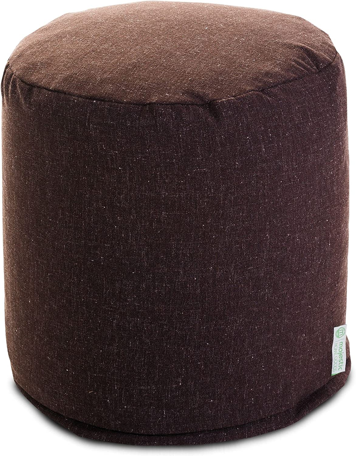 Majestic Home Goods Chocolate Wales Small Pouf