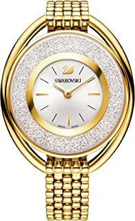 Swarovski Crystalline Oval Gold Tone Bracelet Watch 5200339