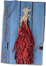 3D Rose Chili Ristras-Santa Fe-New Mexico-Usa-Us32 Jmr1349-Julien McRoberts Towel, 15