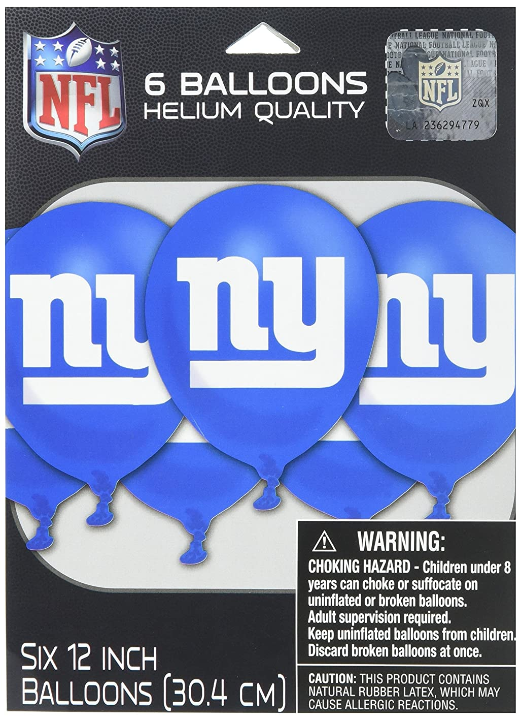 New York Giants Collection Printed Latex Balloons, Party Decoration agantiuasfi515