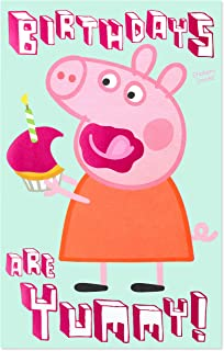 American Greetings Birthday Card for Girl with Stickers (Peppa Pig)