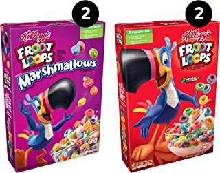 Kellogg's Froot Loops, Breakfast Cereal, Variety Pack, 41.2oz Case (4 Count)