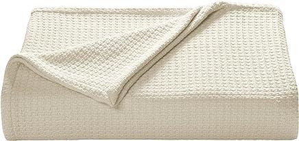 Tommy Bahama Bahama Coast Ecru Cotton Blanket White