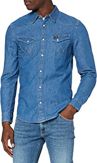 Wrangler Men's Ls Western Shirt Slim Fit Casual Shirt