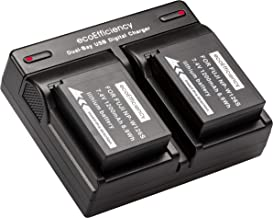 ecoEfficiency 2 NP-W126S Batteries and Dual Charger for FujiFilm X-A7, X-H1, X-T10, X-T20, X-T30, X-T100, X-100F, X-Pro1, X-Pro2, X-A2, X-A3, X-A5, X-A10, X-E1 X-E2 X-E2S, X-E3, X-M1, X-T1, X-T2, X-T3