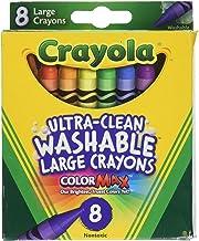 Crayola Washable Crayons, Large, 8 Colors – 2 Packs