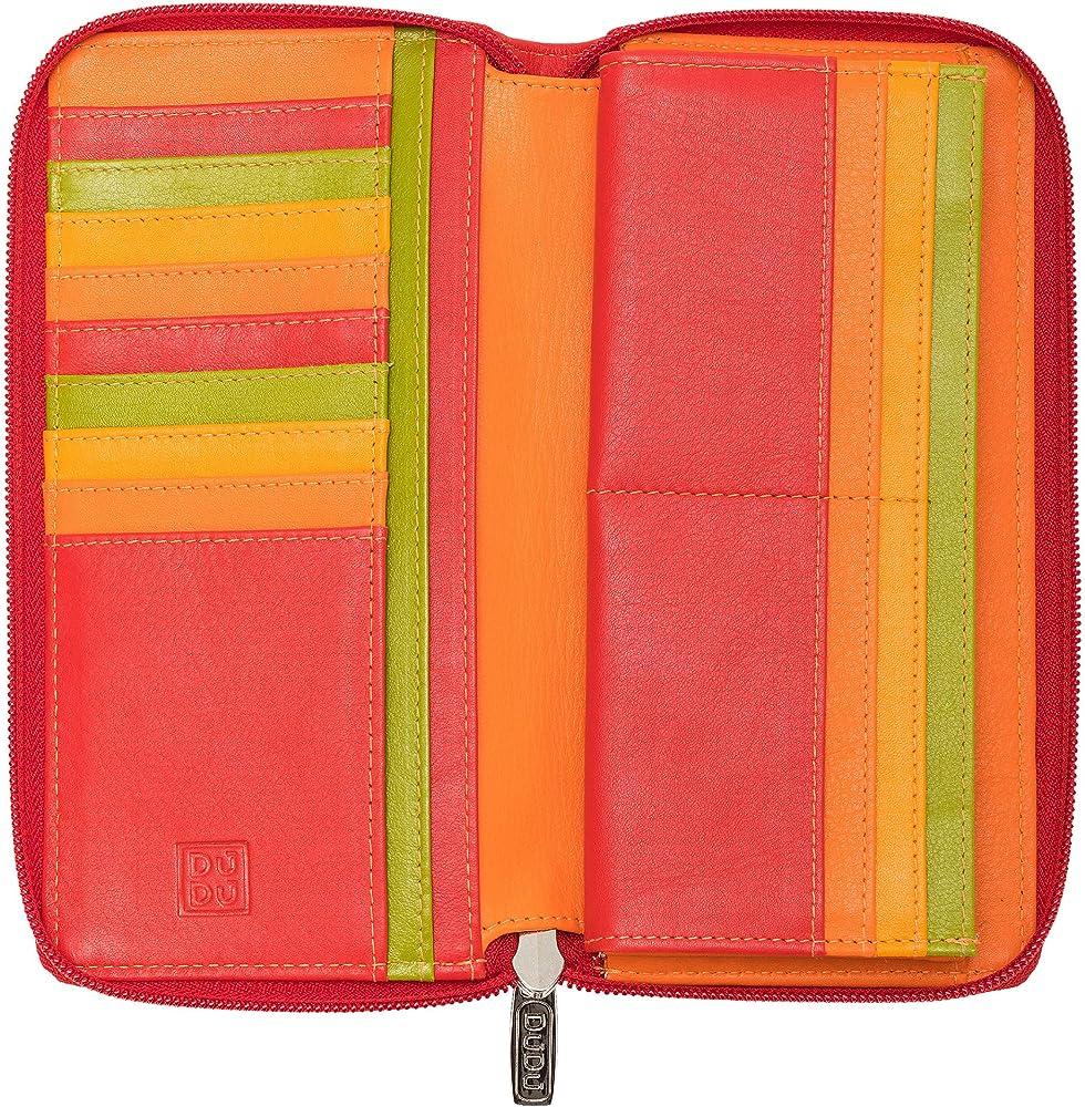 Dudu portafoglio per donna porta carte di credito con protezione anticlonazione in pelle 8031847170535