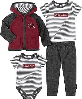 Calvin Klein Baby Boys 3 Pieces Jacket Pants Set